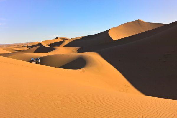 Erg Chegaga monumentális (300m magas) homokdűnéi