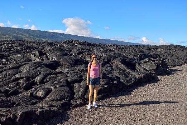 Fiatal megkövesedett lávafolyam Hawaii-n