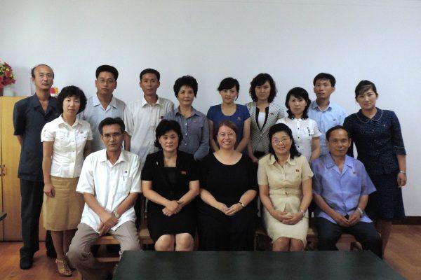 Hallgatóim a Pyongyang Tourism College-ban