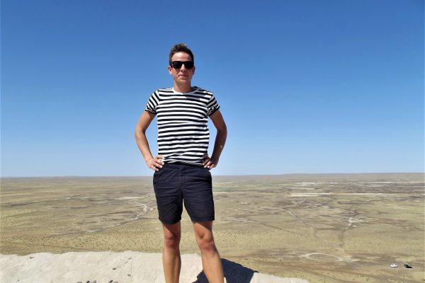 Kizil Kumban 49 fokos nyári kánikula idején (Üzbegisztán) Halász Levente