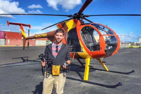 hawaii nyitott helikopter