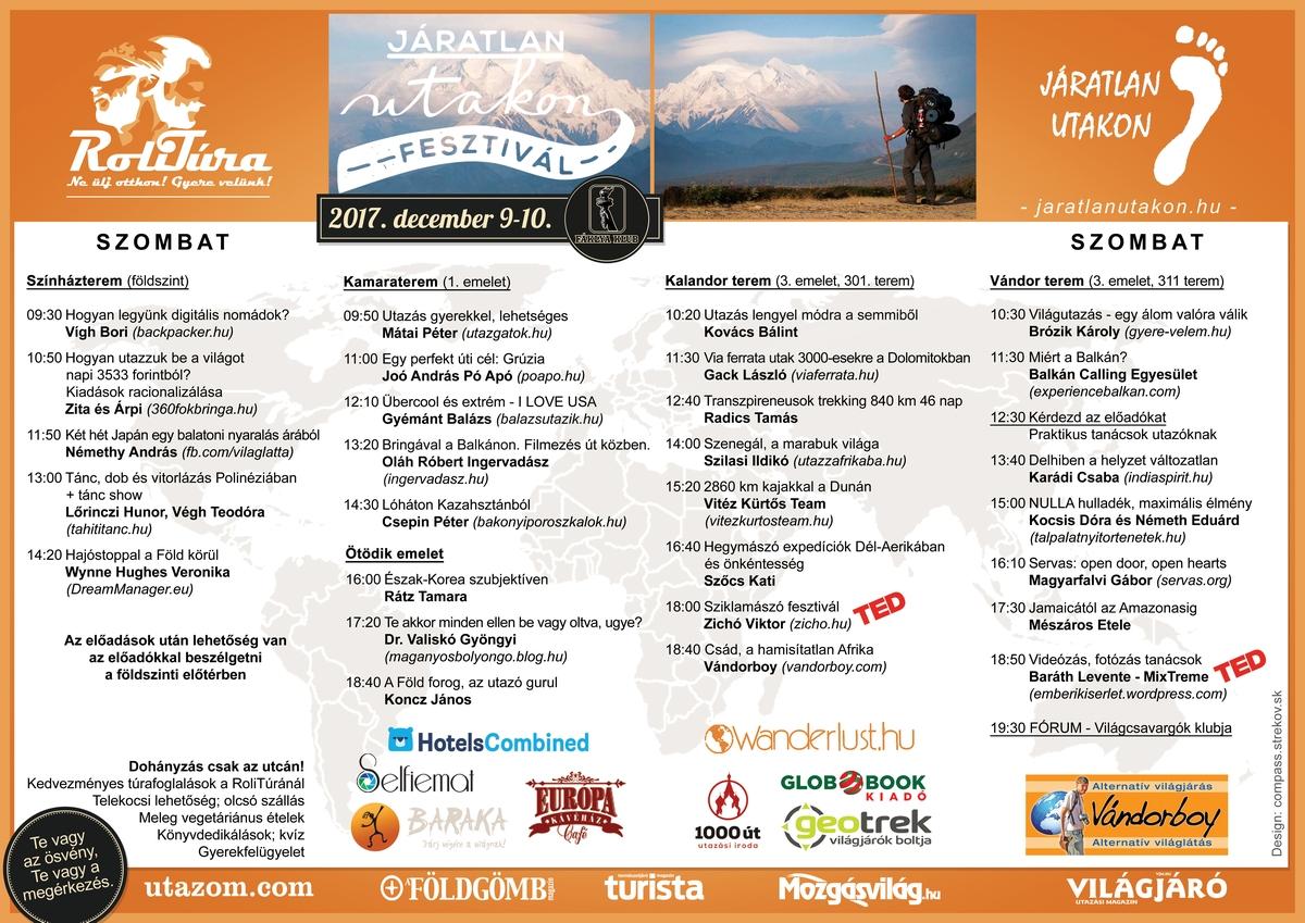 Dec 9-10 fesztivál program plakát