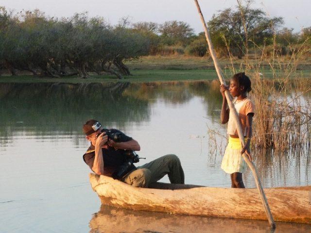 Kamba tó, Angola, Lantai-Csont Gergely munka kozben